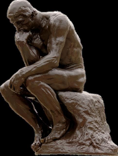 """Imagen de """"El pensador"""" de Rodin"""